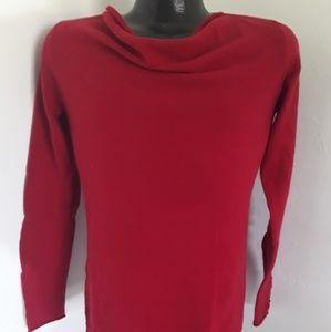 Saffron women red cashmere sweater size S